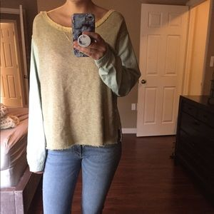 NEW NWT Free People Embroidered Back Sweater $128